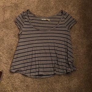 Kimchi Blue Navy Striped Short Sleeve Shirt